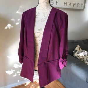 Torrid Blazer, Size 2 -Magenta/Purple